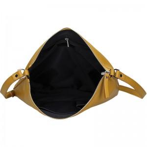 Trendy dámská kožená crossbody kabelka Facebag Elesn - žlutá