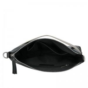 Trendy dámská kožená crossbody kabelka Facebag Elesn - černo-zlatá