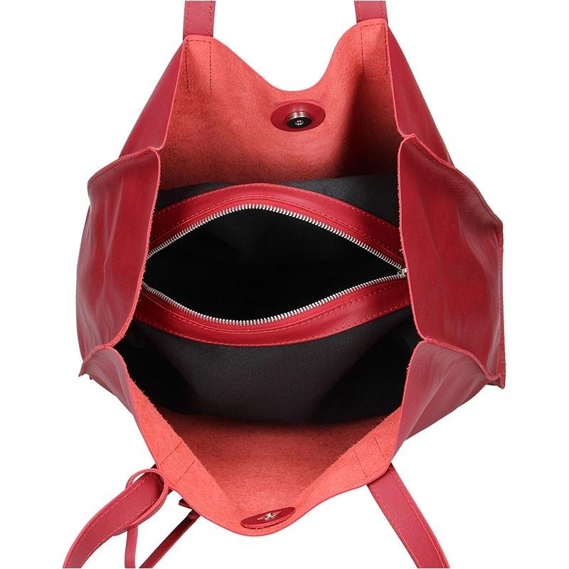 Dámská kožená kabelka Facebag Karolína - červená