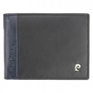 Pánská kožená peněženka Pierre Cardin Milane - modro-černá