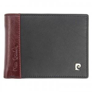Pánská kožená peněženka Pierre Cardin Milane - červeno-černá