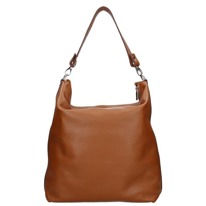 Dámská kožená kabelka Facebag Elina - hnědá