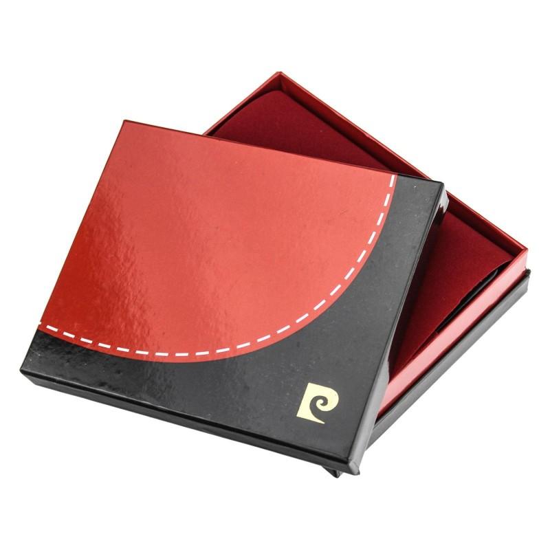 Pánská kožená peněženka Pierre Cardin Viléms - modro-černá