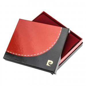 Pánská kožená peněženka Pierre Cardin Viléms - červeno-černá