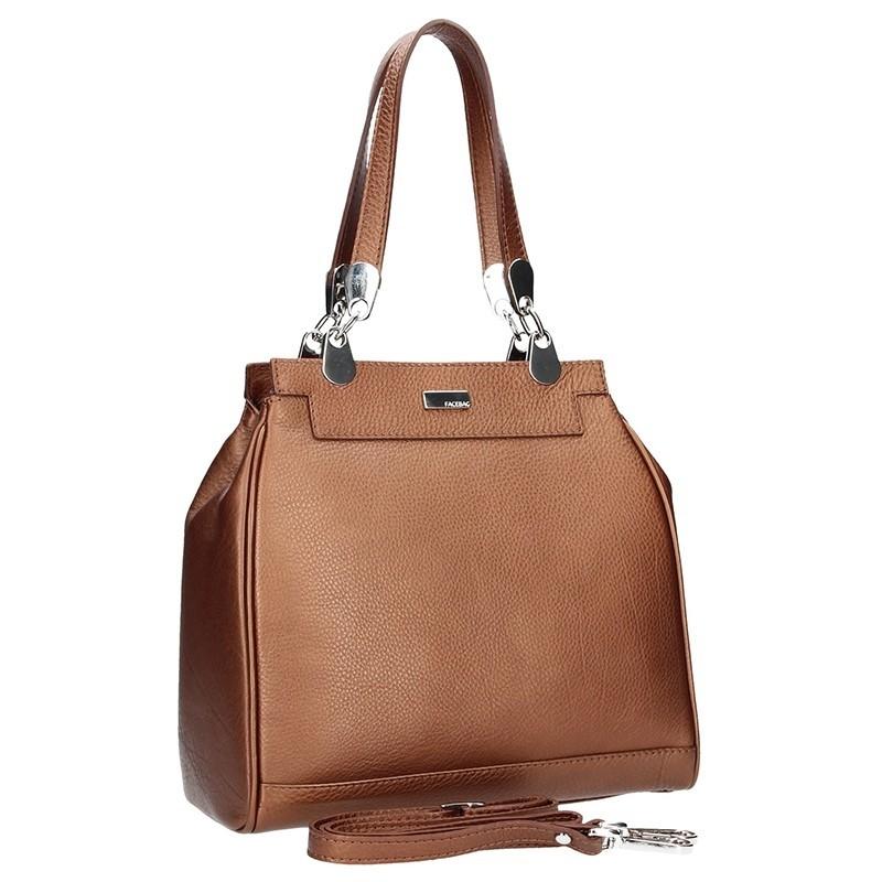 Dámská kožená kabelka Facebag Evrika - hnědá