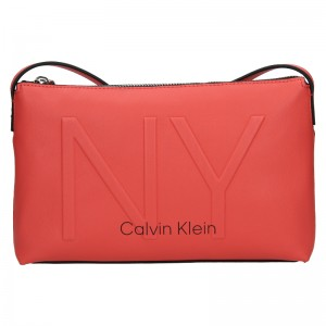 Dámská crossbody kabelka Calvin Klein Petrona - koral