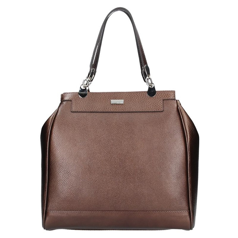 e06c7214bb Dámská kožená kabelka Facebag Bernadeth - tmavě hnědá