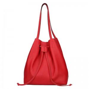 Dámská kožená kabelka Unidax Centa - červená