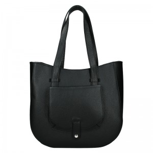 Dámská kožená kabelka Vera Pelle Aisha - černá