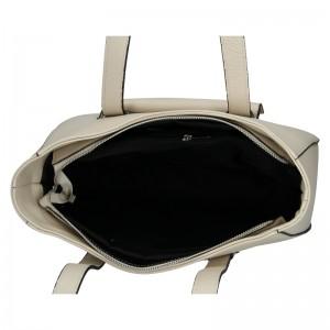 Dámská kožená kabelka Vera Pelle Aisha - béžová