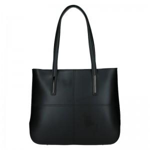 Dámská kožená kabelka Vera Pelle Meraba - černá