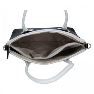 Dámská kožená kabelka Vera Pelle Klára - černo-bílá