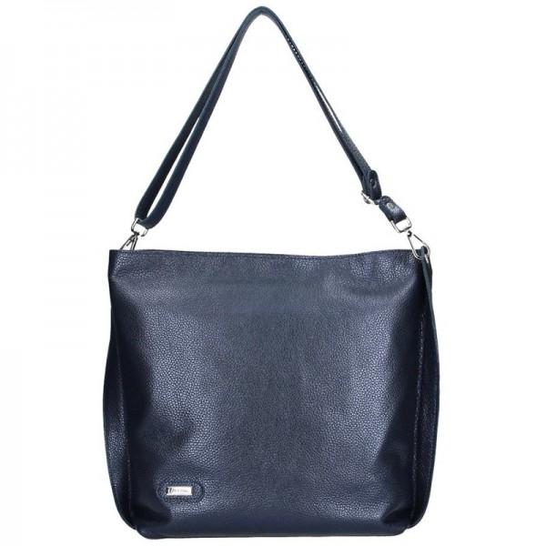 Dámská kožená kabelka Facebag Fiona - modrá