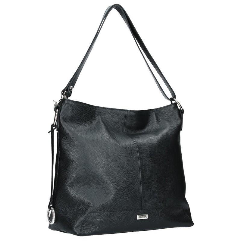 Dámská kožená kabelka Facebag Rachel - černá