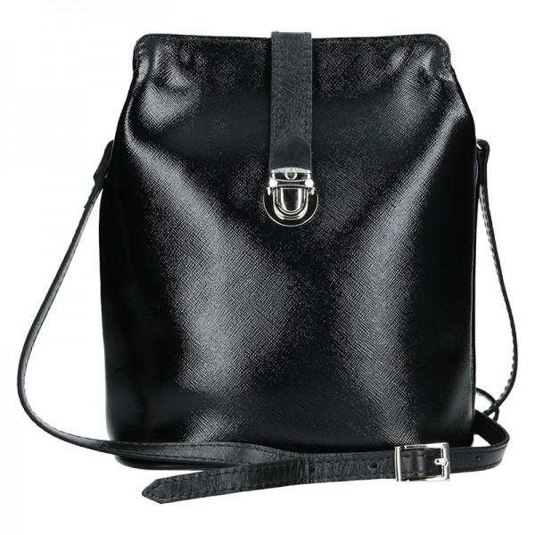 Dámské kožené crossbody Facebag Brenda - černá