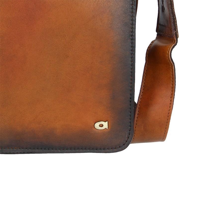 Luxusní pánská kožená taška Daag ALIVE 19 - hnědá