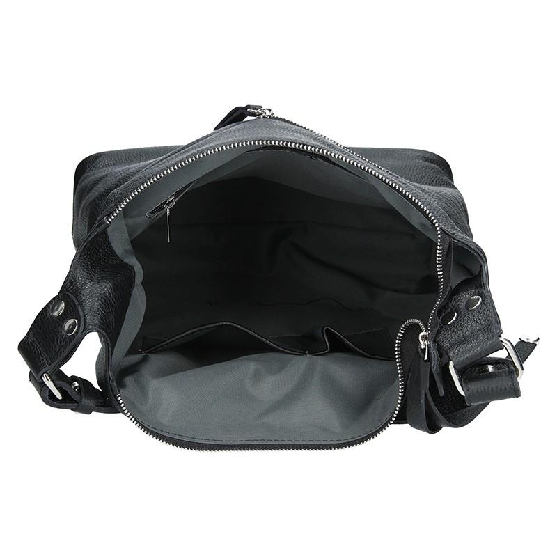 Dámská kožená kabelka Facebag Fionna - černá