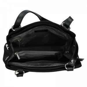Dámská kožená batůžko kabelka Katana Martina - černá