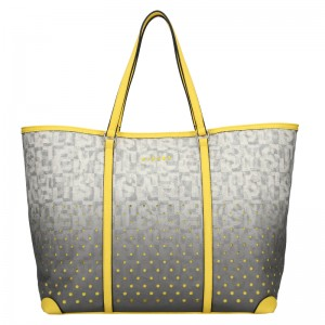 Dámská kabelka Sisley Radka - šedo-žlutá