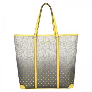 Dámská kabelka Sisley Brenda - šedo-žlutá