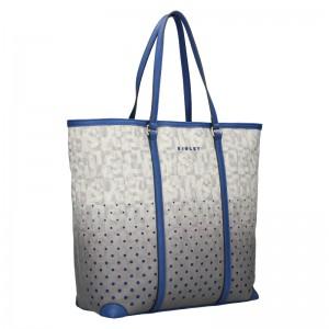 Dámská kabelka Sisley Brenda - šedo-modrá