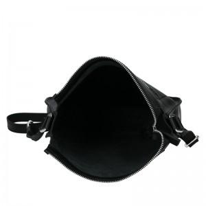 Trendy dámská kožená crossbody kabelka Facebag Miriana - černá