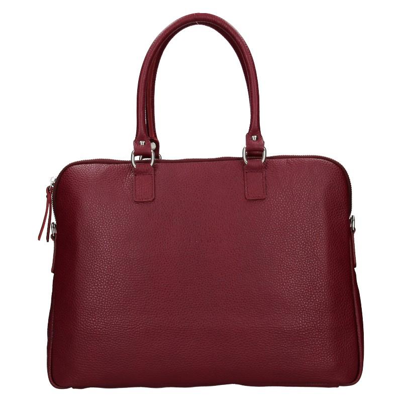 Dámská kožená taška na notebook Facebag Milanos - vínová