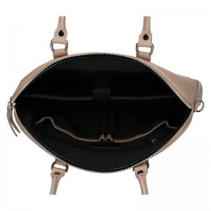 Dámská kožená taška na notebook Facebag Milanos - béžová