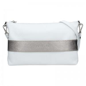 Dámská kožená kabelka Facebag Elesn - bílo-zlatá