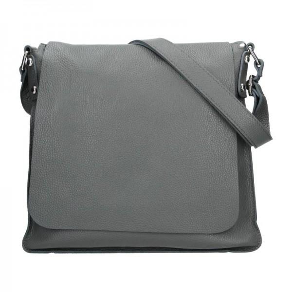 Dámská kožená kabelka Facebag Adriana - šedá