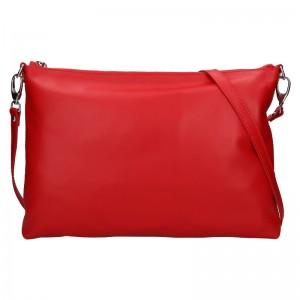 Trendy dámská kožená crossbody kabelka Facebag Elesn - červená
