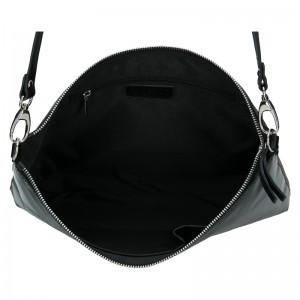 Dámská kožená vzorovaná crossbody kabelka Facebag Elesn - černá