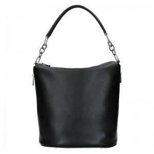 Dámská kožená kabelka Facebag Talma - černá