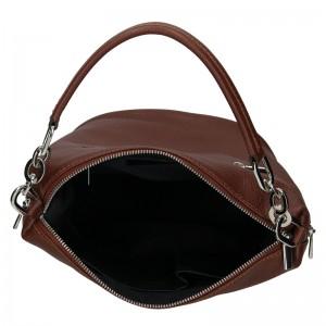 Dámská kožená kabelka Facebag Talma - tmavě hnědá