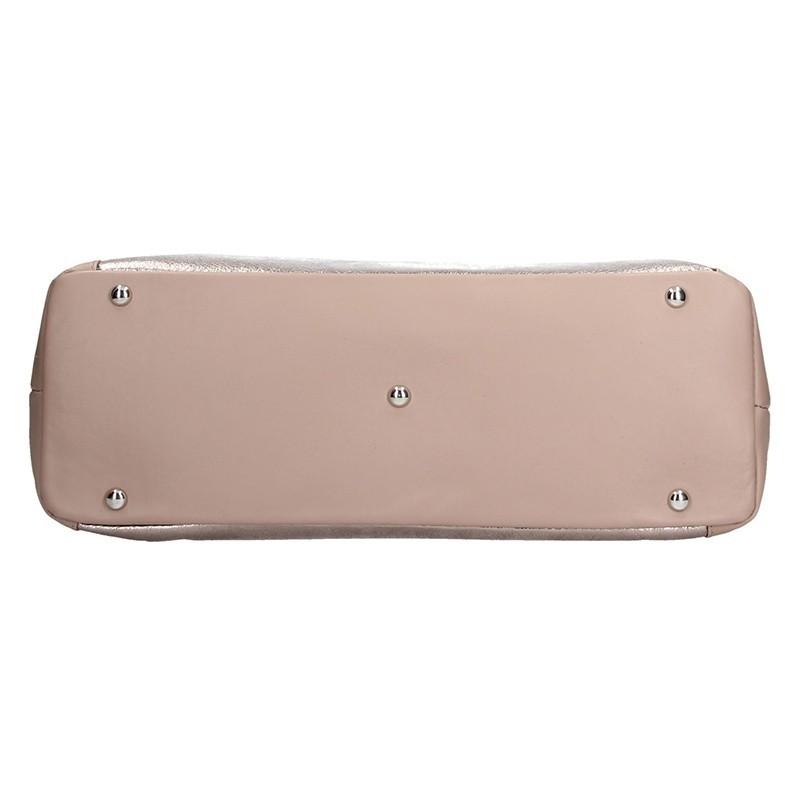 Dámská kožená kabelka Facebag Joana - růžová