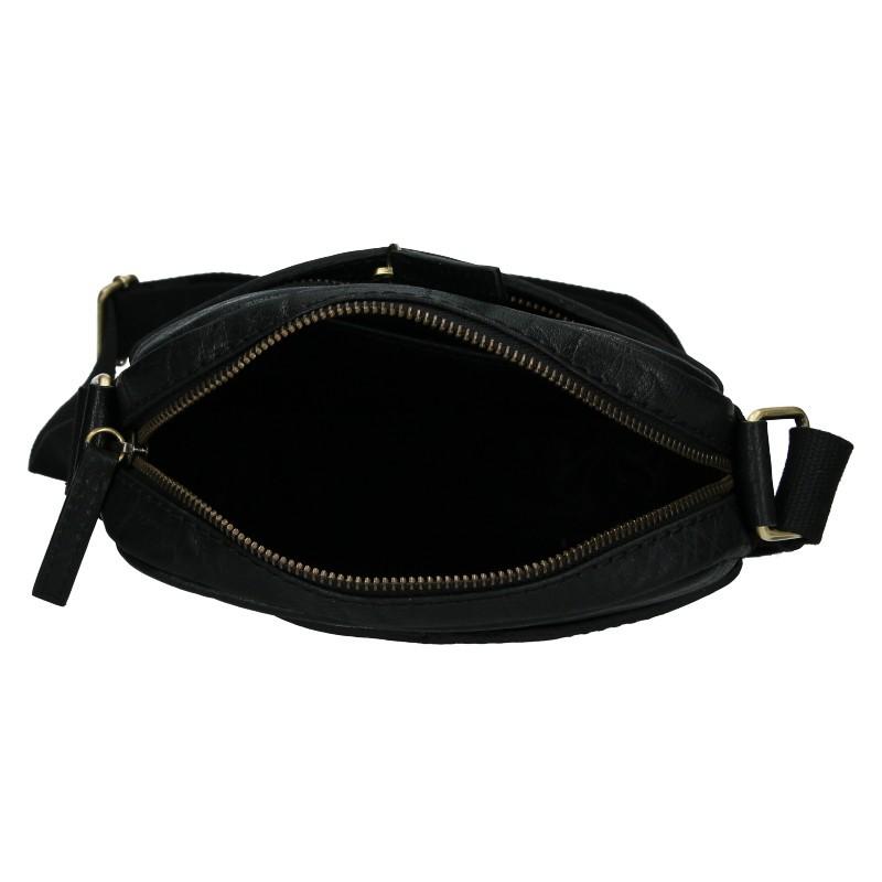 Pánská kožená taška přes rameno Lagen Vinston - černá