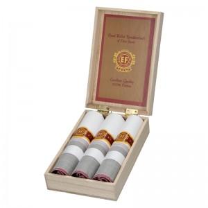 Pánské kapesníky v luxusní sadě ETEX Gelen - bílo - fialová