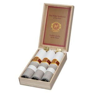 Pánské kapesníky v luxusní sadě ETEX Gelen - bílo - šedá