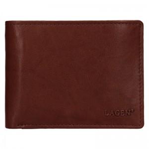 Pánská kožená peněženka Lagen Kall - hnědá