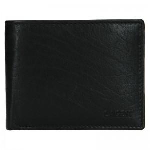 Pánská kožená peněženka Lagen Kall - černá