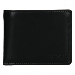 Pánská kožená peněženka Lagen Palleto - černá