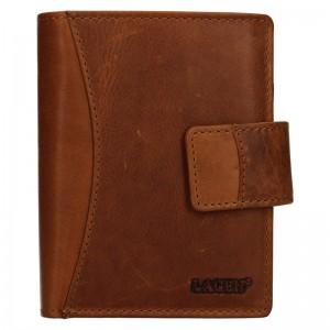 Pánská kožená peněženka Lagen Klent - hnědá