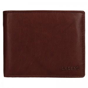 Pánská kožená peněženka Lagen Aleš - hnědá