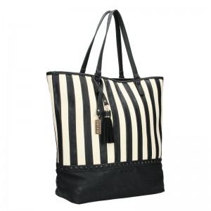 Dámská kabelka Sisley Wanda - černo-bílá