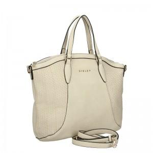 Dámská kabelka Sisley Narras - krémová