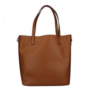 Dámská kožená kabelka Unidax Ninna - hnědá