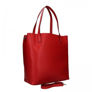 Dámská kožená kabelka Unidax Ninna - červená