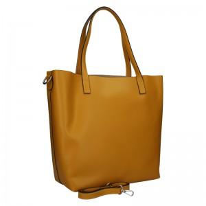 Dámská kožená kabelka Unidax Ninna - hořčicová