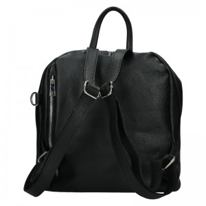 Kožený dámský batoh Unidax Arabel - černá