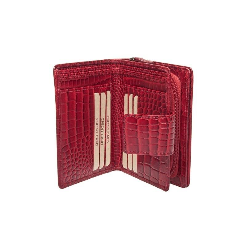 Dámská kožená peněženka Lagen 2077/C - červená